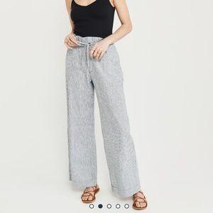 Linen Paper Bag Waist Pants